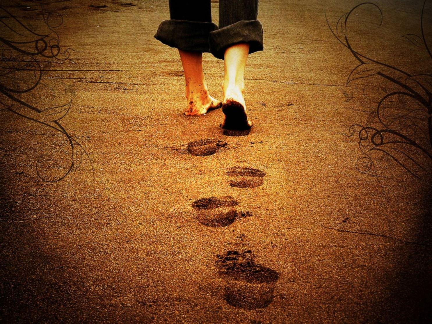walk in sand