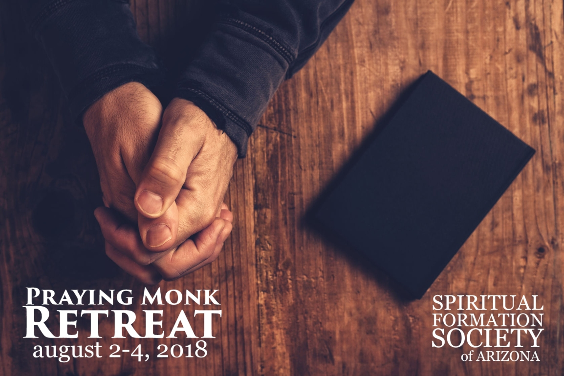 praying monk retreat 2018 logo